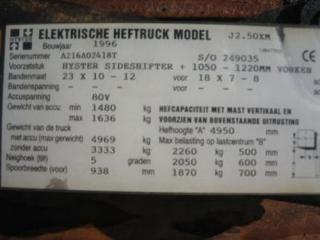 HYSTER J2.50XM Achterbrug